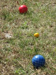 bird u0027s yellow house backyard bocce