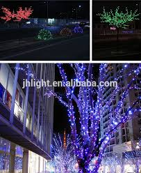 solar led string lights trees decorated wedding table