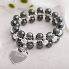 beaded black bracelet images Personalised black beaded bracelet gettingpersonal co uk jpg