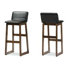 Leather Bar Stool With Back Bar Stool Set Of 2 24 Espresso Brown Faux Leather Bar Stool Faux