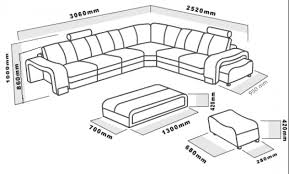 Sectional Sofas Dimensions Ev 3330 Modern Espresso Leather Sectional Sofa