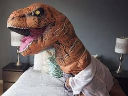 T Rex Costume Bride Does Boudoir Photo Shoot In A T Rex Costume And The Results
