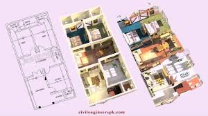 bahria town house floor plans youtube
