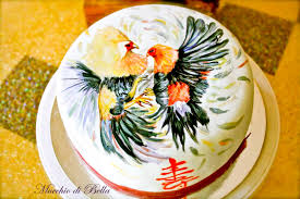 cake with rooster design dmost for