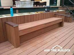 how to build deck bench seating build deck bench seating ask the builderask the builder