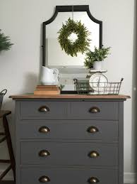 Gray Furniture Paint | grey painted dresser top is mixture of minwax dark walnut and