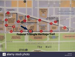 Smithsonian Map Federal Triangle Heritage Trail Map Of Washington Dc Stock Photo