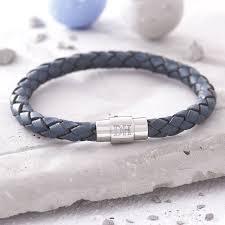 leather bracelet man images Men 39 s personalised clasp plaited leather bracelet by hurleyburley jpg