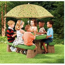 little kids picnic table step2 naturally playful picnic table with 60 inch umbrella walmart com