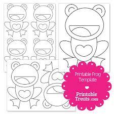 printable frog with heart belly template u2014 printable treats com