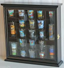 cheap curio cabinets for sale shot glass display case wall curio cabinet shadow box black shot