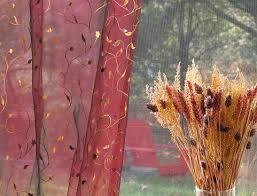 floral vine brushes embroidered organza sheer curtains u0026amp amp