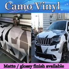 pixel car matte u0026 glossy arctic camo vinyl wrap film pixel car wrap winter