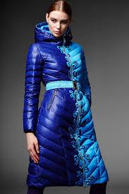 show season blue printed hooded down coat coats at dezzal