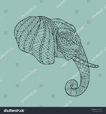 abstract vector image elephants head profile stock vector