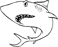 fish coloring pages sharks coloring
