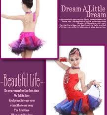 kids samba girl fashion rhinstone open back dress children