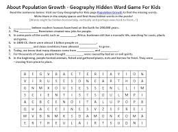 image of population growth worksheet free geography for kids