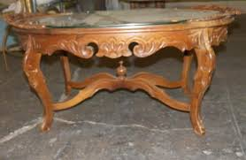Carved Coffee Table Walnut Eagle Carved Coffee Table Colonial Style Chip Carved Coffee
