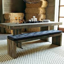 rustic kitchen table with benches that can slide underneathcorner