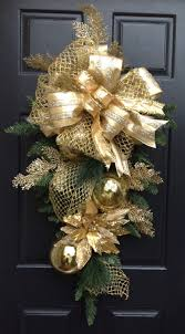 gold christmas swag wreath holiday swag christmas by festivetouch
