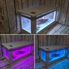 Quartz Table L Aquarium Coffee Table Fish Tank With Quartz Surround And Led