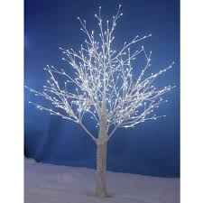 150cm white snowy twig tree 448 white led lights indoor outdoor