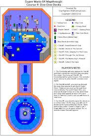 Map Gif Super Mario 64 Course 09 Dire Dire Docks Map Gif