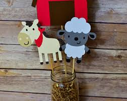 Farm Theme Baby Shower Decorations Farm Animal Barnyard Centerpiece Barnyard Birthday Centerpiece