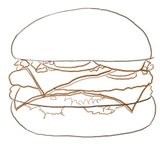 drawn burger cheeseburger pencil and in color drawn burger