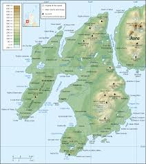 Michigan Topographic Maps by File Islay Topographic Map En Svg Wikimedia Commons