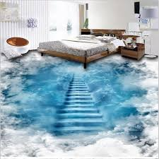 3d flooring unique design staircase to the clouds print waterproof decorative 3d
