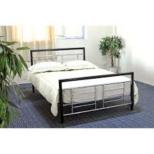 king size bed frame headboard and footboard within metal with