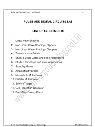 pdc lab manual low pass filter electronic circuits