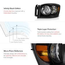 lexus is300 headlight assembly 2006 2008 dodge ram 1500 srt 10 style black crystal headlights