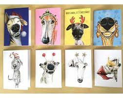 dog christmas cards pet cards etsy