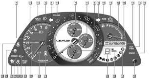 lexus dash lights lexus is mk1 dash warning lights