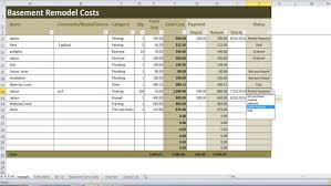 Basement Refinishing Cost by Basement Remodel Costs Calculator Excel Template Renovation Cost