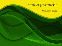 download free green waves powerpoint template for presentation