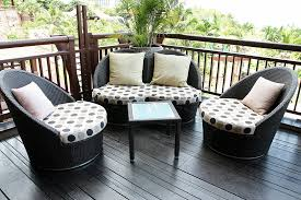 patio patio furniture for apartment balcony maroon and brown