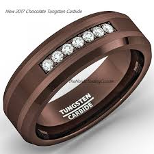 Mens Gunmetal Wedding Rings by Coffe Brown Tungsten Carbide Men U0027s Wedding Ring Groom U0027s Band