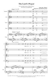 the lord u0027s prayer satb by albert hay malo j w pepper sheet music