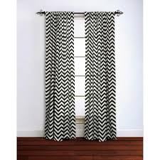 Gray And White Chevron Curtains Cotton Black And White Curtain Panel