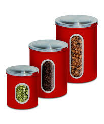 Red Kitchen Canisters - 106 best kitchen storage jars kitchen canister sets images on