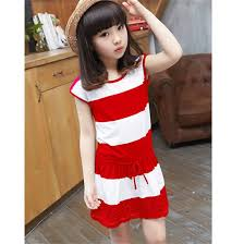 fashion striped dress for kids 2015 summer new style crocheted