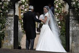 pippa middleton weds in custom giles deacon wedding dress see