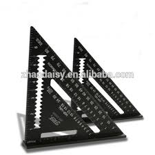 view layout alloy triangle ruler measuring tool black aluminum alloy square layout