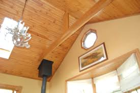 great rooms with knotty pine ceilings and drywall walls pine