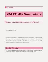 gate maths all branch questions with answers free civil