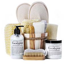 spa gift basket ideas organic eucalyptus spa basket gourmet gift baskets for all occasions